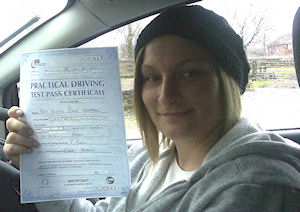 Krystle got some good quality Driving tuition in Preston, Lancashire