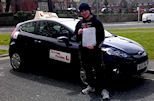 James Passed his Practical Driving test with no minor faults